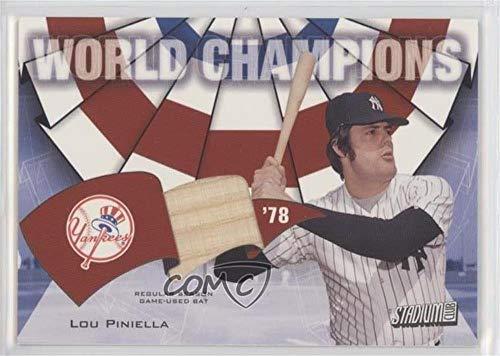 Lou Piniella (Baseball Card) 2002 Topps Stadium Club - World Champions Relics #WC-LVP