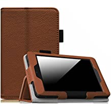 Fintie Folio Case for Fire HD 6 - Slim Fit Vegan Leather Standing Protective Cover with Auto Sleep/Wake Feature (will only work with Amazon Kindle Fire HD 6 Tablet 2014 Release), Brown