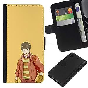 YiPhone /// Tirón de la caja Cartera de cuero con ranuras para tarjetas - Páramos - Sony Xperia Z1 L39