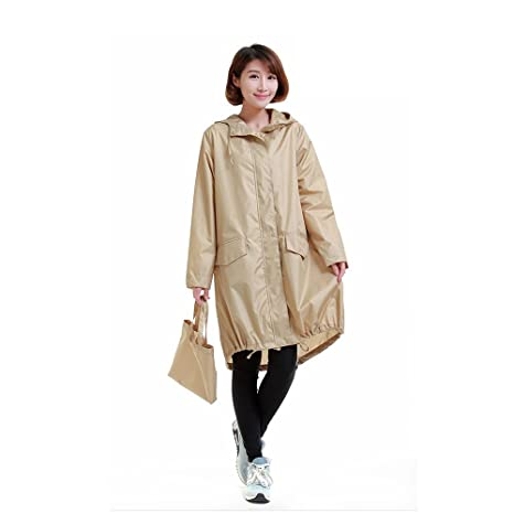 956944a63 Amazon.com: Women Raincoat Hood Long Rain Jacket Lady's Raincoat ...