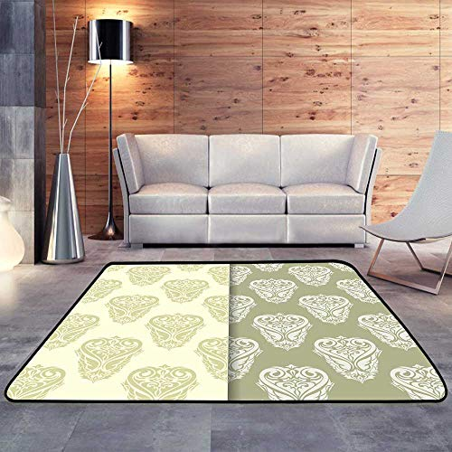 """Kitchen Rugs,Olive Green Set of Floral sW 78.7"""" x L118 Floor Mat Home Decoration Supplies"""
