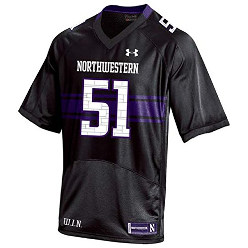 Northwestern Wildcats Youth Replica Football Jersey - Black #51 , Youth Large