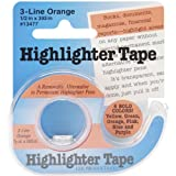 """Lee Removable Highlighter Tape, 1/2"""" Wide x"""