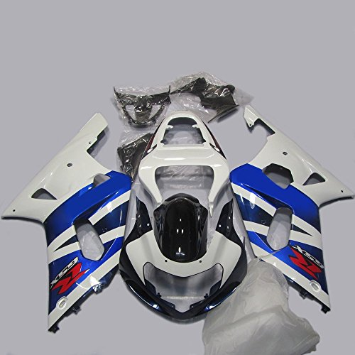 Oem Suzuki Fairings - ABS Injection Molding - OEM Style White Painted with Graphic Fairing Kit for SUZUKI GSXR 600 / 750 K1 (2001-2003)