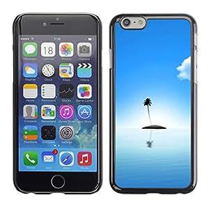Cubierta de la caja de protección la piel dura para el Apple iPhone 6 (4.7) - Cute Lonely Island Ocean