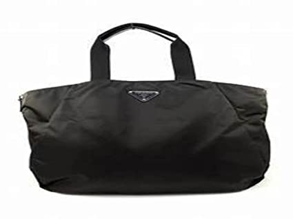 57d0f6e12f Amazon.com : Prada Handbag Nylon Tote Bag Nero Black BR4055 ...