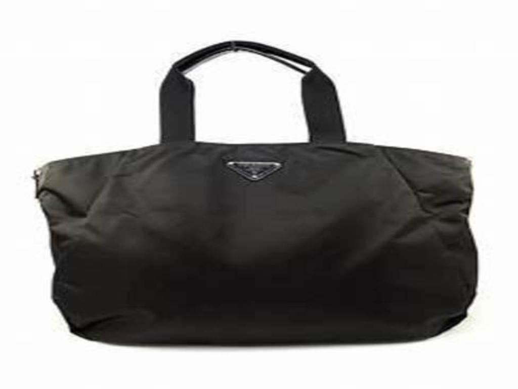 35b9f5e6c63d ... real amazon prada handbag nylon tote bag nero black br4055 everything  else ff3ee 8d60f