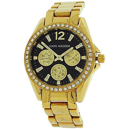 Mark Maddox Ladies Rhinestone Set Bezel Multifunction Dial Strap Watch MM3020-55
