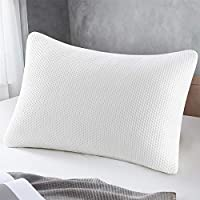 Memory Foam Pillow, Queen Size Pillows for Sleeping Adjustable Loft Firmness Shredded Hypoallergenic Headrest Cushion...
