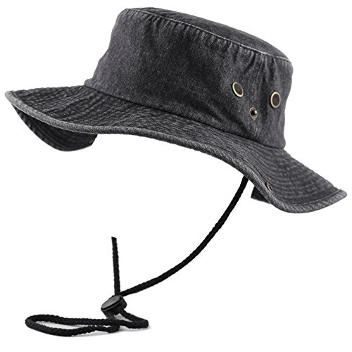 1a256495 ... THE HAT DEPOT 300N1510 Wide Brim Foldable Double-Sided Outdoor Boonie  Bucket Hat (S ...