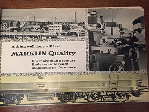 Marklin Catalog - Marklin Catalog 1966 1967