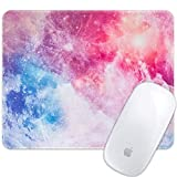 Marphe Mouse Pad Galaxy Nebula Moon Mousepad Stitch Edge Non-Slip Rubber Gaming Mouse Pad Rectangle Mouse Pads for Computers Laptop