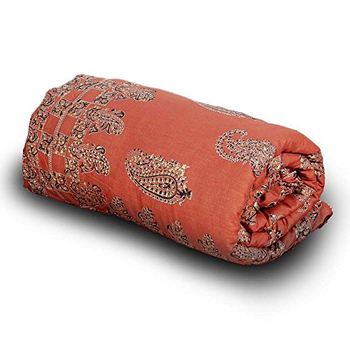 Indian Gift Emporium Paisley Designer Hand Block Cotton Single AC Quilt 206