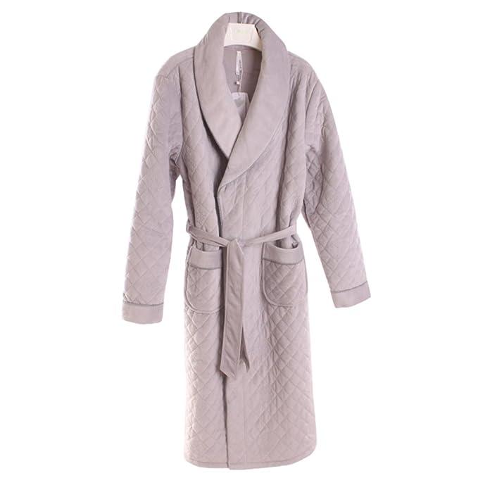Conjunto de pijama de franela de los hombres Acolchado Espesar Coral] Plus size Bata Largo