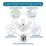 ALOVECO LED Garage Lights, LED Garage Ceiling Lights 60W 6000LM, E26/E27,CRI 80, 6000K Daylight White with 5 Adjustable… 12