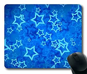 Blue Stars Art Easter Thanksgiving Personlized Masterpiece Limited Design Oblong Mouse Pad by Cases & Mousepads