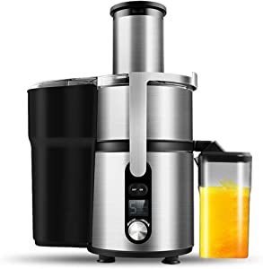 High Power Juicer Machine, Electric Juice Extractor with 5 Speed Control, Juice Jug, Stainless Steel Knife net, Anti-drip, Best Gift for Mother