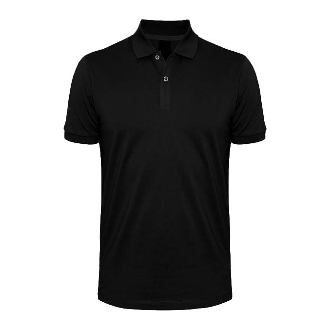 3e166ae2466 Days   Years Men s Cotton Polo T-Shirt Plain(X-Large