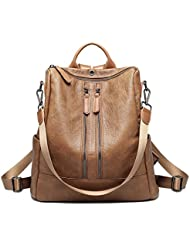 Womens Fashion Faux Leather Backpacks Purses Day pack for College, Travel, Work
