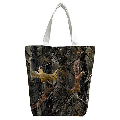 Sac Camo branche main Gris cartable bandoulière sac déjeuner Canvas Shopping à de écureuil Sacs personnalisé Sac Violetpos EOUq4ZO