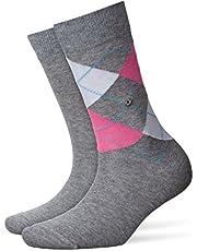 BURLINGTON Damen Socken Everyday - Baumwollmischung, 2 Paar, Versch. Farben, Einheitsgröße (36-41) - Strumpf in Ganzjahresqualität aus gekämmter Baumwolle