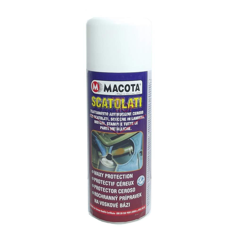 MACOTA SCATOLATI Trattamento antiruggine ceroso per Motori scocche Parti Metalliche Auto 400 ml