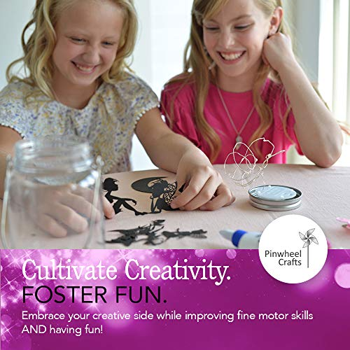 Fairy Craft Kits for Girls – Make Your Own Fairy in A Jar Night Light Kit – Fun DIY Arts and Crafts Project for Kids…