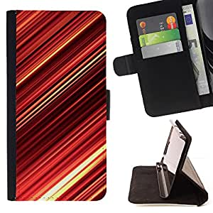 DEVIL CASE - FOR HTC DESIRE 816 - Abstract Red Stripes - Style PU Leather Case Wallet Flip Stand Flap Closure Cover