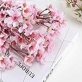 HO2NLE 4PCS Artificial Flowers Branches Faux Silk