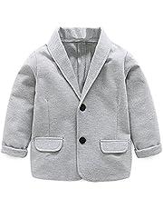 REWANGOING Little Kids Boys Girls Casual Fashion Blazers Jackets Coat Suit Outerwear