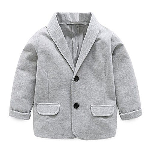 (Little Kids Boys Girls Casual Fashion Blazers Jackets Coat Suit Outerwear 2-3 Years Gray)