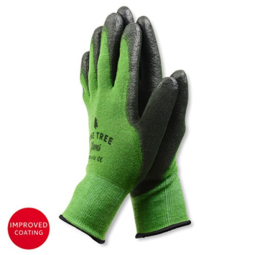 Pine Tree Tools Bamboo Working Gloves for Women and Men. Ultimate Barehand Sensitivity Work Glove for Gardening, Fishing, Clamming, Restoration Work - S,M,L,XL (1 Pack XL) (Works Garden Tools)