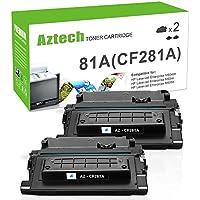 Aztech Compatible Toner Cartridge Replacement for HP 81A CF281A HP M605 M604 M604N M604DN M605N M605DN M605X HP Laserjet Enterprise M605 M604 M605N M604N M605DN M605X M604DN Printer Ink (2 Pack)
