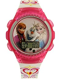 Kids' FNFKD013 Frozen Elsa and Anna Digital Display Quartz Pink Watch in an Ornament Gift Bulb