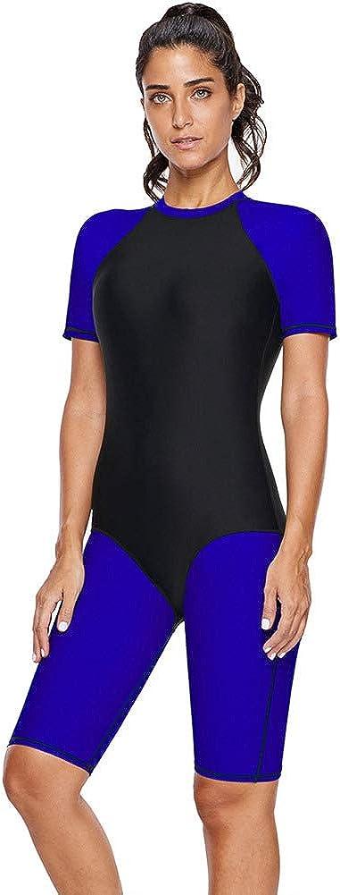 BaronHong Diamond Striped Hourglass Rashguard Teddy Swimsuit