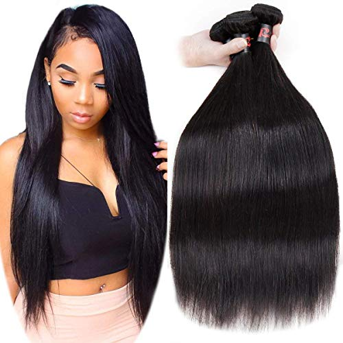 Malaysian Straight Hair 3 Bundles 16 18 20inch Grade 9A Unprocessed Virgin Straight Human Hair Bundles Natural Black Color RESACA Mink Straight Hair Weave
