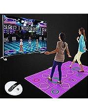 BDRWXZ Double Dance Mat Wireless Play Mat Non-Slip Duurzaam Slijtvaste Dansen Stap Pad Musical Play Mat Daner Deken TV Somatosensorische dansmatten voor volwassenen Kinderen