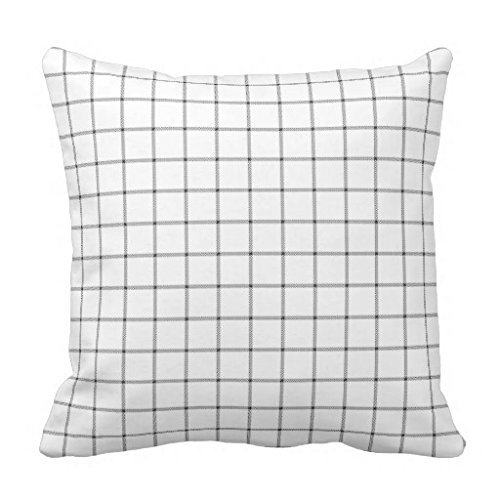 Pillowcases Black and white plaid teapot 18x18(inches)