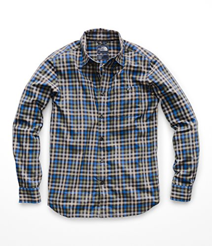 The North Face Men's L & S Hayden Pass 2.0 Shirt - Weathered Black Glen Plaid - M