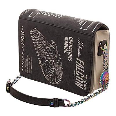 Bioworld x Star Wars Millenium Falcon Operations Manual Shoulder Bag