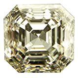 RINGJEWEL 2.40 CT VVS1 ASSCHER Cut Loose Real Moissanite Use 4 Pendant/Ring Genuine White J-K Color