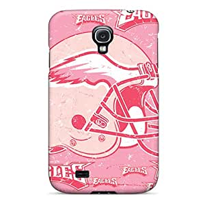 Shock Absorption Hard Cell-phone Case For Galaxy S4 With Support Your Personal Customized Lifelike Philadelphia Eagles Pattern DustinFrench