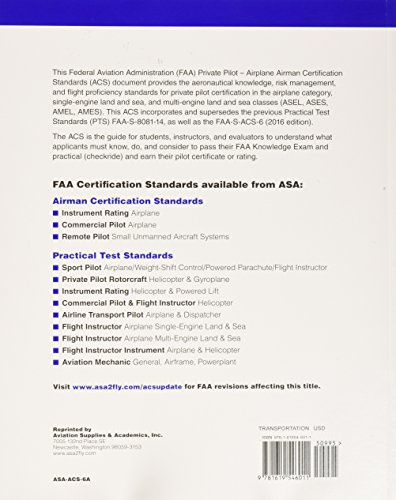 fc3b87810a5 Private Pilot Airman Certification Standards - Airplane  FAA-S-ACS ...