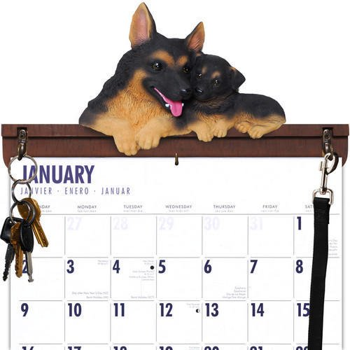 German Shepherd Leash Hook - German Shepherd Calendar Caddy & Leash Hook