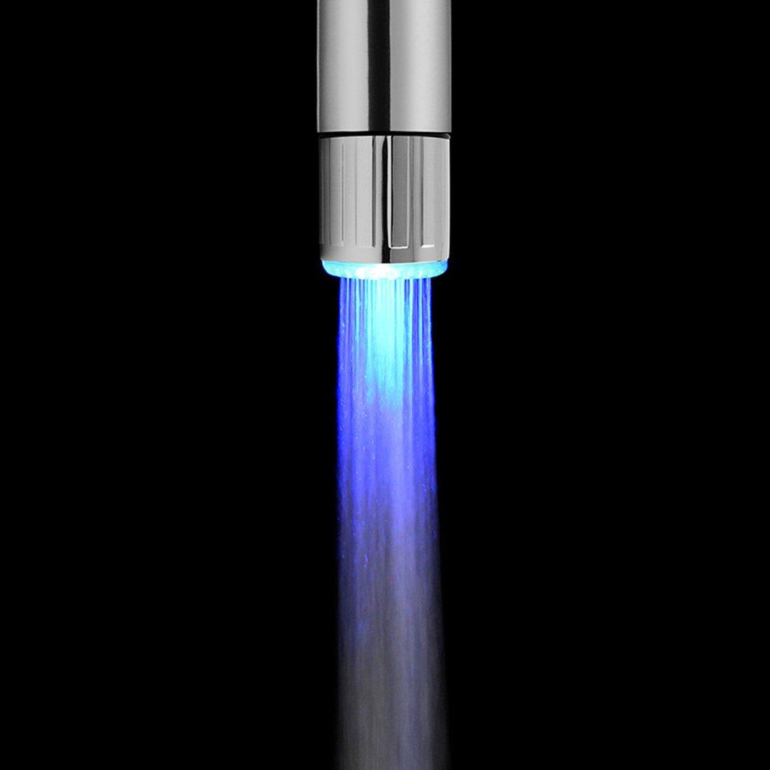 Multicolor Changing LED Light Water Faucet Temperature Sensor Water Tap