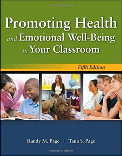 Book Promoting Health And Emotional Well-Being In Your Classroom by Randy M. Page (2010-01-12)