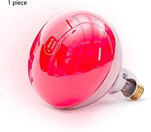 275W Red Light for Heating Far Infrared Bulb, Beauty Salon Heat Lamp, Physiotherapy/Health Care (1 Piece / 5 Pieces),1piece