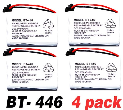 Electronix Plus BT-446 DC3.6 Volt 800MAH Rechargeable Batteries For Uniden Cordless Phones - 4 Pack