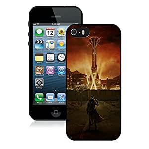 Game Case,Easy Use Case Fallout City Light Character Sky Cover Case for iphone 5 5s 5th in black