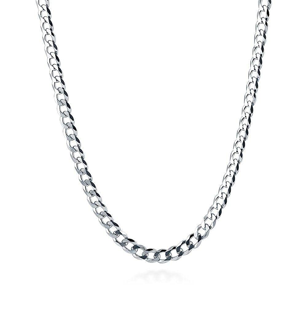 Designer Inspired Curb Necklace Chain 4mm Sterling Silver 925 16